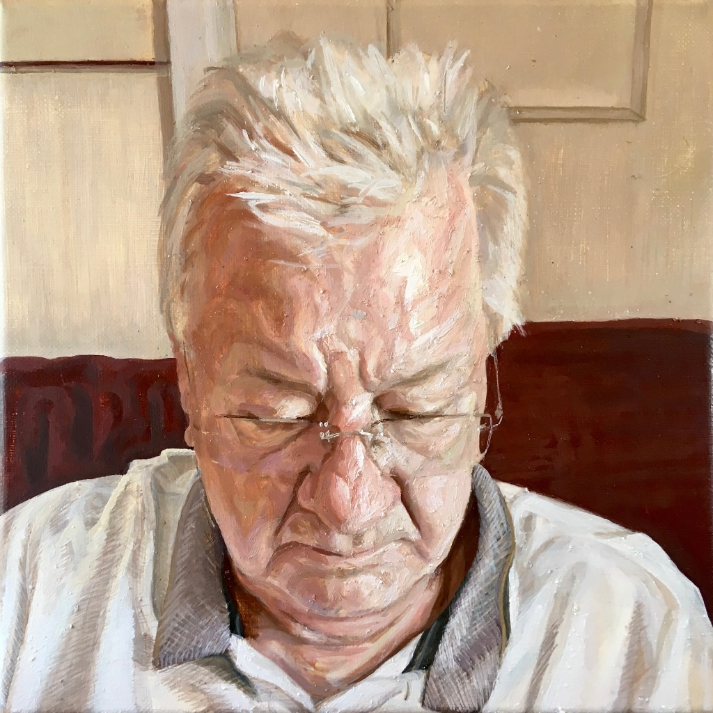 """Reflection"", 2019. Oil-on-Canvas, 32x32cm."