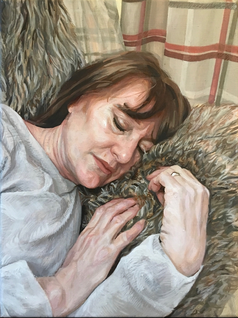 'The Painter's Mother', 2019. Oil-on-Canvas, 30x40cm.