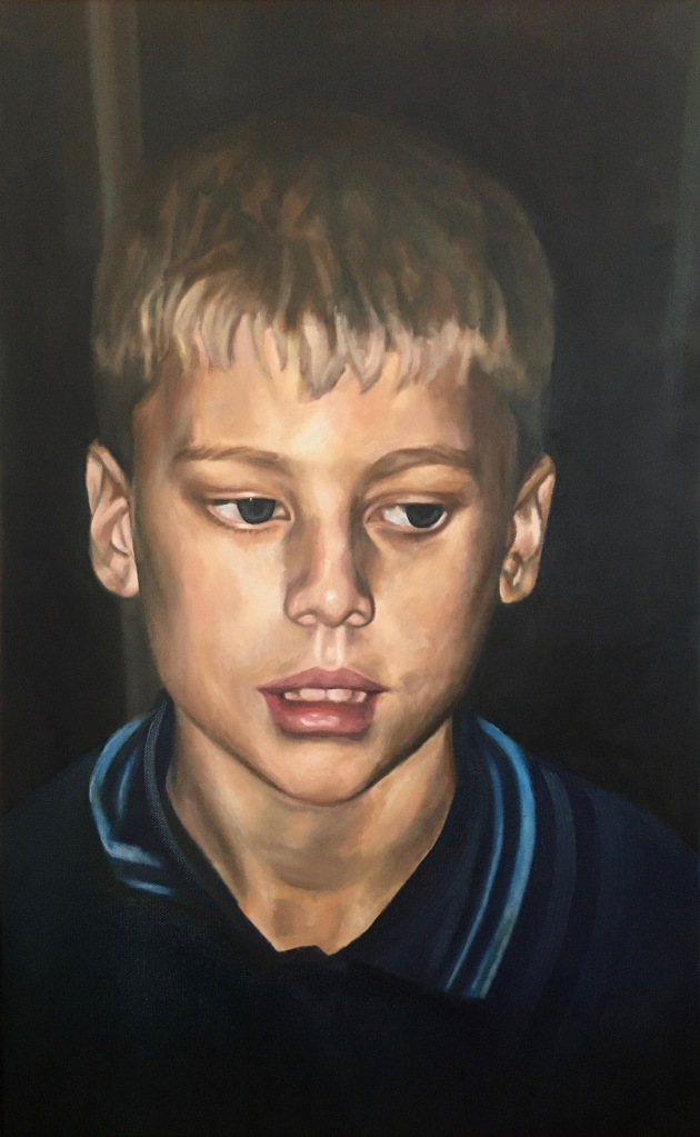 """""""Head of a Boy II"""", 2012. Oil-on-Canvas, 65x40cm. Private Collection."""